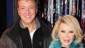 Joan Rivers gets a special visit from Forbidden Broadway producer John Freedson.