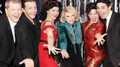 Joan Rivers at 'Forbidden Broadway' — David Caldwell — Scott Richard Foster — Natalie Charle Ellis — Joan Rivers — Jenny Lee Stern — Marcus Stevens