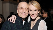 Broadway vets Adam Heller and Erin Dilly played the roles of Morris and Marie, two people who helped run La Guardia's law offices.