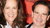 Karen Ziemba and Peter Scolari, who starred together in Ziegfeld Follies of 1936, catch up at Lucky Strike.