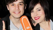 We're number one! Smash stars Andy Mientus and Krysta Rodriguez take one for the team.