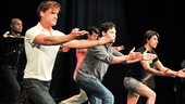 Hit the Wall Rehearsal- Sean Allan Krill  - Matthew Greer- Arturo Soria- Nathan Lee Graham- Ben Diskant