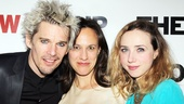 Ethan Hawke poses with his leading ladies, Stephanie Janssen and Zoe Kazan.