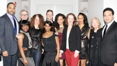 The company of Lincoln Center Theater's Luck of the Irish celebrate their off-Broadway opening. From left: Victor Williams, Robert Hogan, Marsha Stephanie Blake, director Rebecca Taichman, scribe Kirsten Greenidge, Dashiell Eaves, Carra Patterson, Amanda Quaid, Eisa Davis, Jenny O'Hara and Frank Harts.