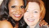 Twelfth Night alums Audra McDonald and Julie White are all smiles at the gala.