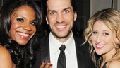 Audra McDonald and Will Swenson welcome their pal (and Swenson's former Hair co-star) Caissie Levy to the gala.