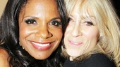 Audra McDonald gets a huge hug from her pal, Other Desert Cities alum Judith Light.