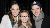 Cinderella stars Laura Osnes and Santino Fontana welcome The New Normal's Bebe Wood to Broadway.