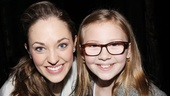 Bebe Wood is thrilled to meet Cinderella's title star. (The young actress appeared in a Kansas City production of the R&H classic!)