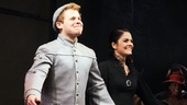 Aw! Adorable duo F. Michael Haynie and Catherine Charlebois take a bow as Boq and Nessarose.