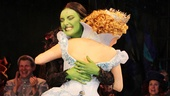 Wicked's witches Alli Mauzey and Willemijn Verkaik share a hug during the emotional and electrifying curtain call.