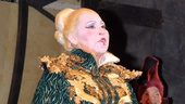 Randy Danson looks wicked fabulous as the villainous Madame Morrible.