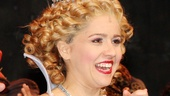 Alli Mauzey beams as Glinda the Good in Wicked.