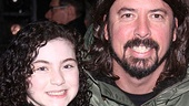 Rocker Dave Grohl also spent part of his NYC holiday weekend enjoying Lilla Crawfords performance in Annie. 