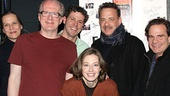 Hanks and Scolari strike a pose with their new Broadway friends. See Virginia Woolf, now through March 3, then check out Lucky Guy, beginning March 1!