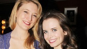 Heidi Schreck (cast as a nosy neighbor) shares an opening night snap with co-star Phoebe Strole.