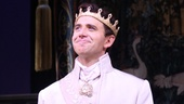 Charming prince Santino Fontana steps forward for his opening night bow.