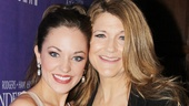 Laura Osnes shares a big smile with her onstage fairy godmother, Tony winner Victoria Clark.