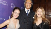 Broadway legend Tommy Tune congratulates Laura Osnes and Victoria Clark on their stellar performances in Cinderella. 