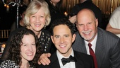 Santino Fontana celebrates his Cinderella opening with his loving family.