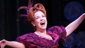 Laura Osnes as Cinderella, Harriet Harris as Madame, Marla Mindelle as Gabrielle and Ann Harada as Charlotte in Cinderella.