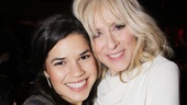 Judith Light shares a big embrace with her former Ugly Better co-star America Ferrera.