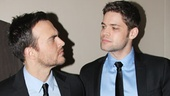 Cheyenne Jackson and Jeremy Jordan prep to perform Who Will Love Me as I Am as Side Shows conjoined twins Daisy and Violet Hilton.