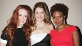 Look at those leading ladies! Sierra Boggess, Nicole Parker and LaChanze dazzle the crowd at MCC Theaters 2013 Miscast Gala. 