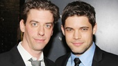 Smashs Christian Borle and Jeremy Jordan run into each other backstage. Check out Jordans smoldering stare in this pic. Hot! 