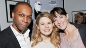 Our Town lovebirds Leslie Odom Jr. (George Gibbs) and Celia Keenan-Bolger (Emily Webb) pose with castmate Julia Murney (Mrs. Soames).