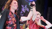 Rock of Ages stars Tony LePage (on for headliner Justin Matthew Sargent) and Kate Rockwell bow for the cheering crowd.