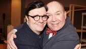 The Nances Tony-winning star (Lane) and director (OBrien) share an embrace. 