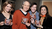 Drood cast members Janine DiVita, Jim Walton, Andrew Samonsky and Stephanie J. Block are all smiles as they present their brand new cast album.