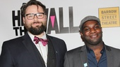 Director Eric Hoff and playwright Ike Holter proudly celebrate Hit the Wall's big night.