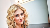 Caissie Levy gets ready to take the stage in her 54 Below concert debut.