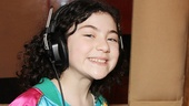 Annie herself Lilla Crawford, flashes us a big smile on recording day.