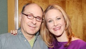 Annie director James Lapine keeps headliner Katie Finneran company while the orphans record their upbeat songs.