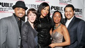 The cast of Detroit 67Francois Battiste, Samantha Soule, DeAdre Aziza, Michelle Wilson and Brandon Dirdencelebrates opening night.
