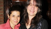 Oscar winner Marisa Tomei stops for a photo with The Lying Lesson's Tony-nominated director Pam MacKinnon.