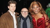 Seven-time Grammy winner Phil Collins gets between Kinky Boots stars Stark Sands and Billy Porter.