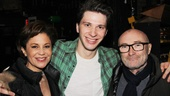 Collins and girlfriend Dana Tyler flank Kinky cast member (and Rock of Ages alum) Joey Taranto.