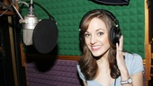 "Leading lady Laura Osnes finds herself in her ""own little corner,"" where she is laying down vocals for the Cinderella album."