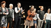 Once leading players Anne L. Nathan, David Patrick Kelly, Ben Hope, Cristin Milioti, Elizabeth A. Davis, David Abeles and Lucas Papaelias take their one-year anniversary bow at the matinee performance on March 20.