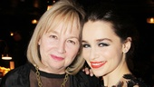 Who's proudest of Emilia Clarke on her big opening night? Her mother!