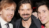 Composer Trey Anastasio and stars Hunter Foster and Jon Rua kick back at the party.