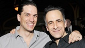 Superman bad guys Will Swenson and David Pittu show off their good-guy smiles.
