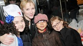 Lilla also shares the afternoon with the star of another popular revival, Pippin's Charlotte d'Amboise, and her daughters Josephine and Shelby Mann.