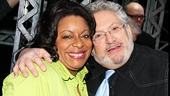 The fabulous LaVon Fisher-Wilson (who plays Medda) joins the musical's equally fabulous scribe Harvey Fierstein for a snapshot.