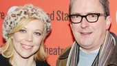 Fresh from their run in Cat on a Hot Tin Roof Emily Bergl and Vin Knight enjoy a night off-Broadway.
