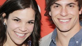 Lindsay Mendez and her Dogfight love interest Derek Klena reunite on the red carpet.